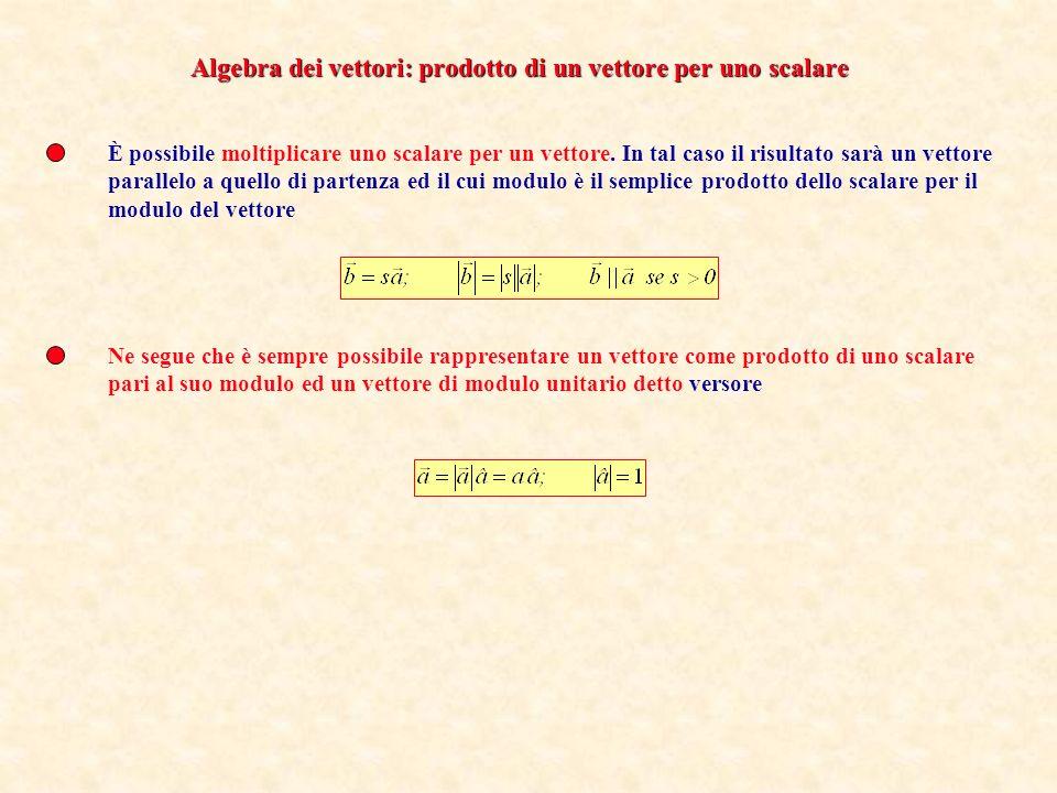 Si definisce somma di due vettori(prop.commutativa) Visto che i due vettori addendi possono avere due direzioni differenti la somma si effettua con la