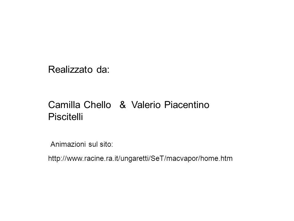 Realizzato da: Camilla Chello & Valerio Piacentino Piscitelli http://www.racine.ra.it/ungaretti/SeT/macvapor/home.htm Animazioni sul sito: