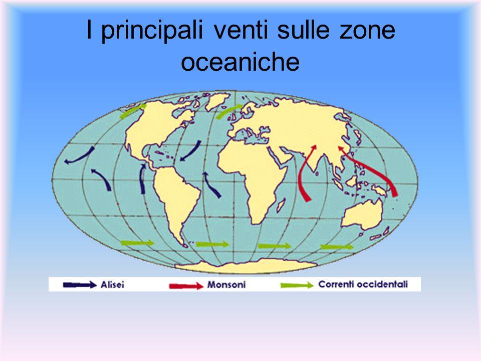 I principali venti sulle zone oceaniche