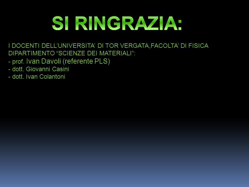 REALIZZATORI DEL PROGETTO ALUNNI DELLA CLASSE VD a.s 2012-2013 ITIS H.