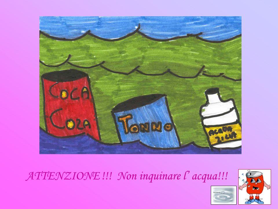 ATTENZIONE !!! Non inquinare l acqua!!!