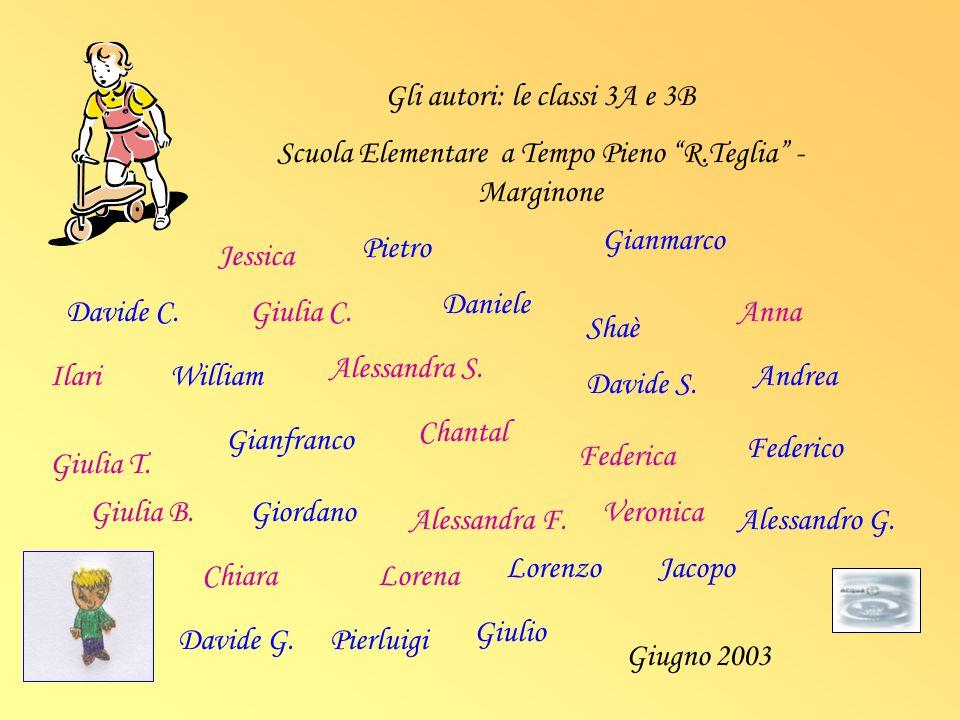 Gli autori: le classi 3A e 3B Scuola Elementare a Tempo Pieno R.Teglia - Marginone Davide C. Jessica Giulia C. Pietro Daniele Gianmarco Shaè Anna Ilar