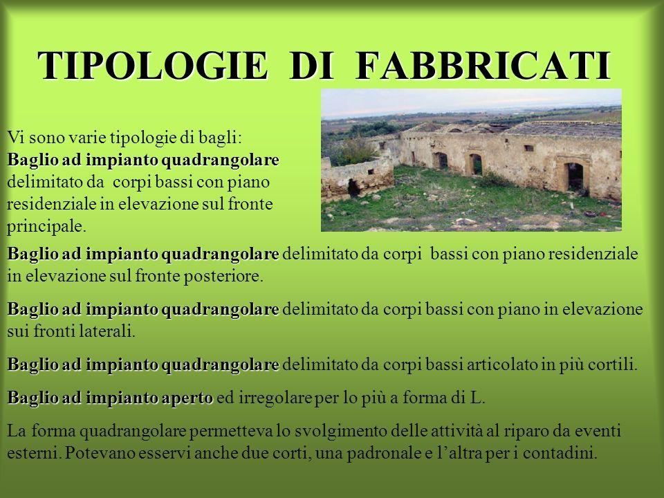 BAGLIO CAPOFETO Ha una pianta rettangolare, cortile interno e la residenza posta sullingresso principale.