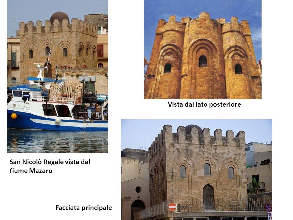 Nome della chiesa San Nicolò Regale (Santa Niculicchia) Ubicazione:Molo Càito Datazione:Metà del XII secolo Breve storia:Fu costruita sotto i Normanni