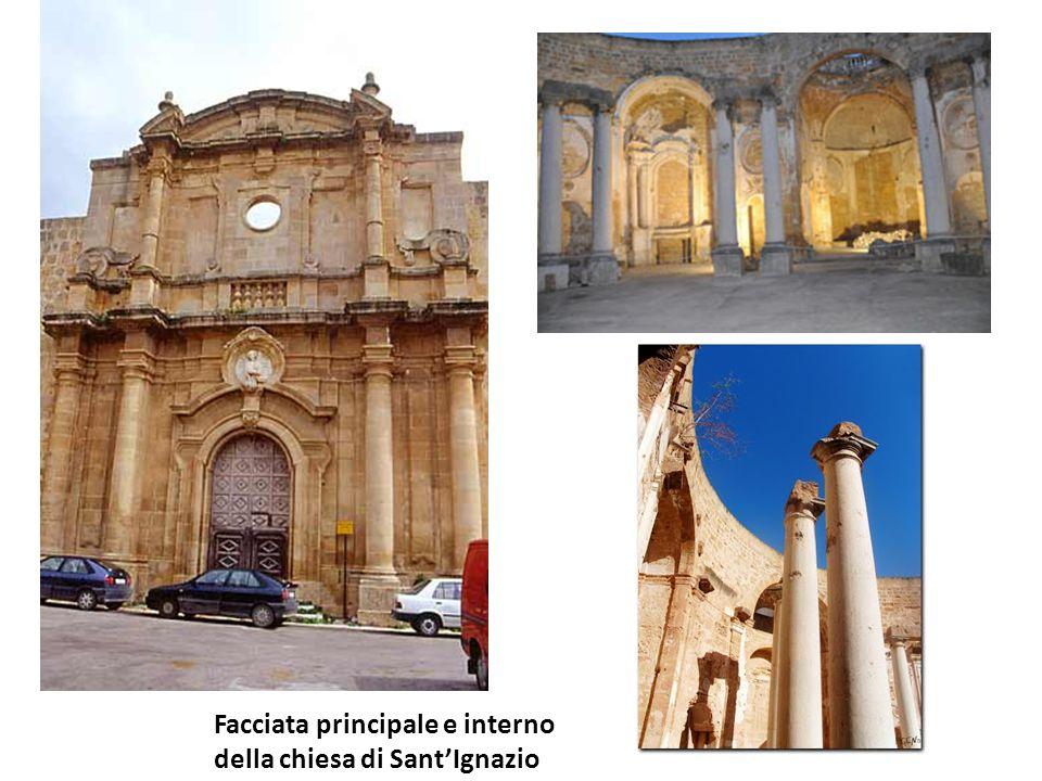 Nome della chiesa : SantIgnazio Ubicazione:Piazza plebiscito Datazione:1701 Breve storia:La chiesa è stata costruita, su un precedente progetto del ge