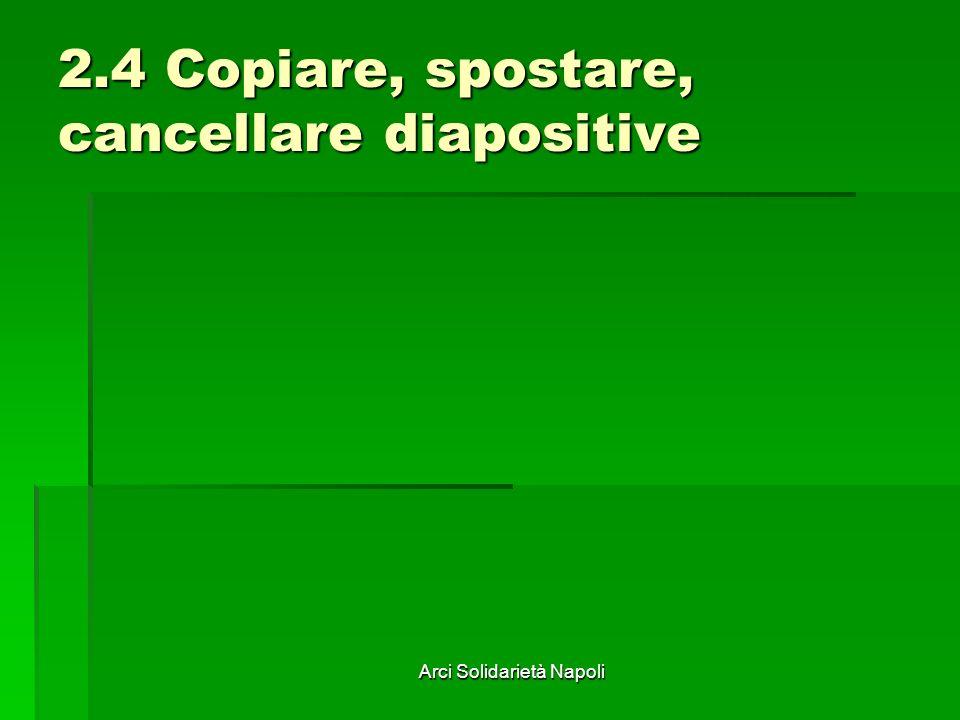 Arci Solidarietà Napoli 2.4 Copiare, spostare, cancellare diapositive