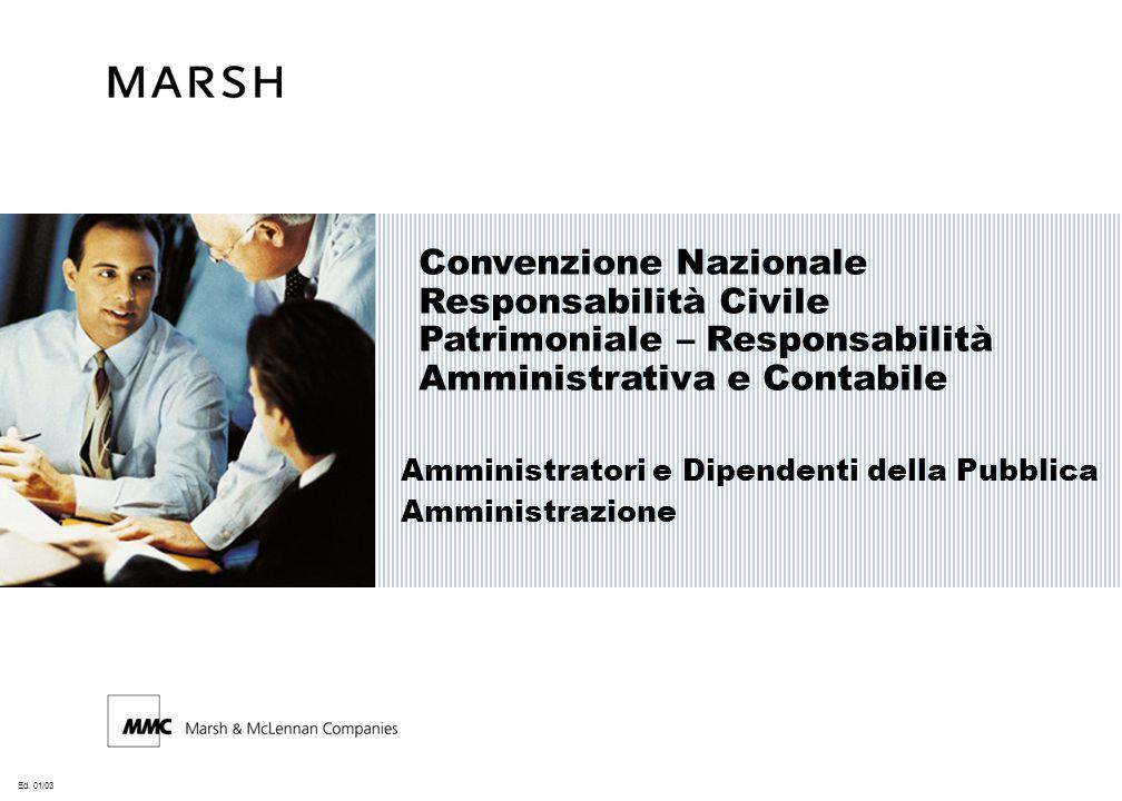 Ed. 01/03 Convenzione Nazionale Responsabilità Civile Patrimoniale – Responsabilità Amministrativa e Contabile Amministratori e Dipendenti della Pubbl