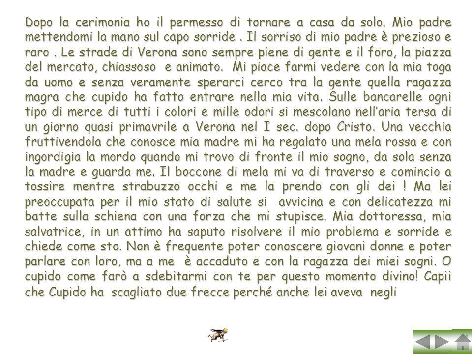 Marcello racconta: Io son Cupido ma, non vi sbagliate,non sono il putto del profano amore,Eros non sono. Io mi chiamo Amore platonico di voi chancor s