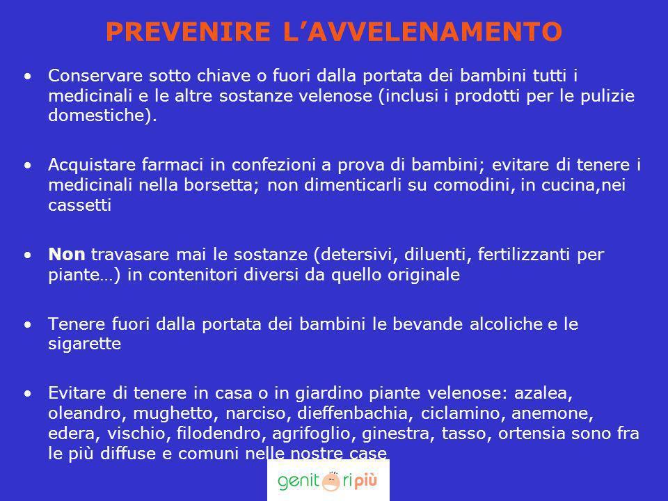 PREVENIRE LAVVELENAMENTO Conservare sotto chiave o fuori dalla portata dei bambini tutti i medicinali e le altre sostanze velenose (inclusi i prodotti