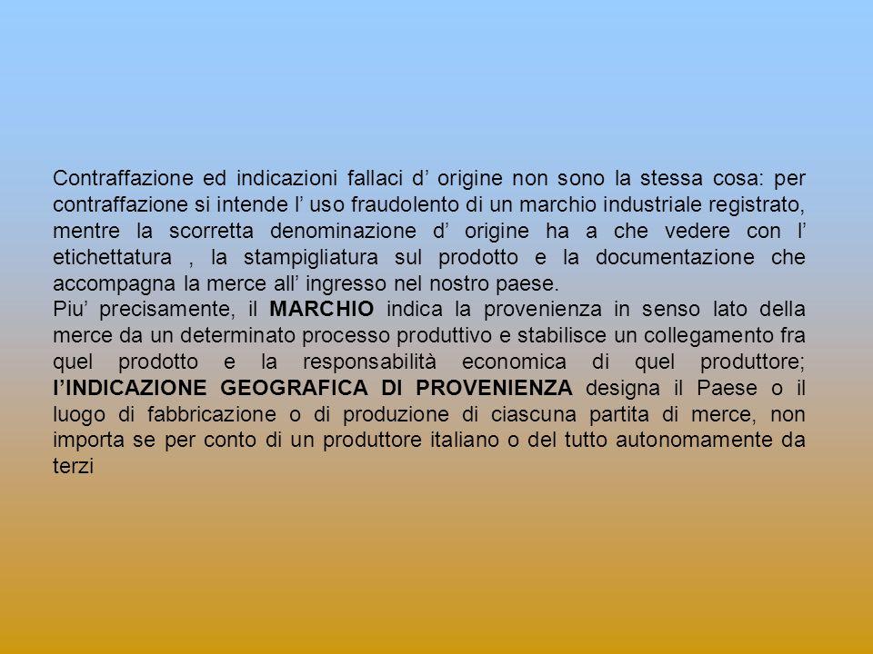 L origine delle merci secondo il diritto comunitario Il Regolamento CE n.
