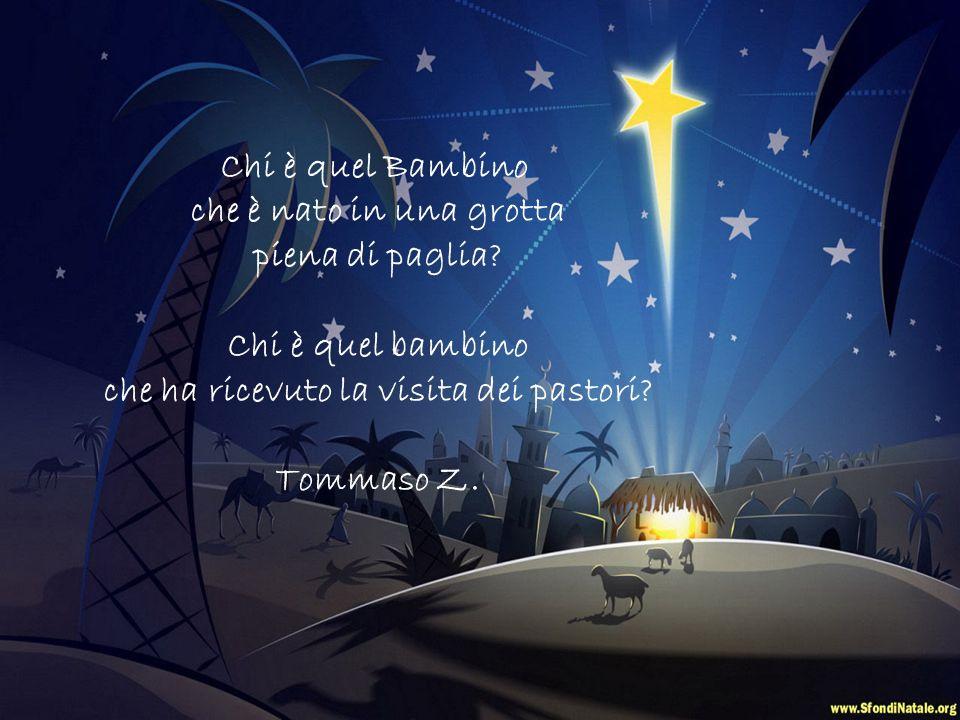 Chi è quel Bambino che è nato a mezzanotte in una grotta circondata dagli angeli? Chi è quel bambino che ha ricevuto doni preziosi dai Re Magi? Nicolò