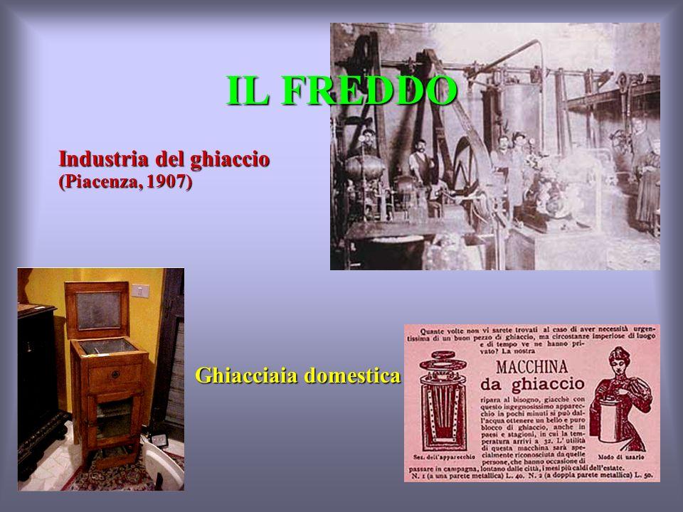 IL FREDDO Industria del ghiaccio (Piacenza, 1907) Ghiacciaia domestica