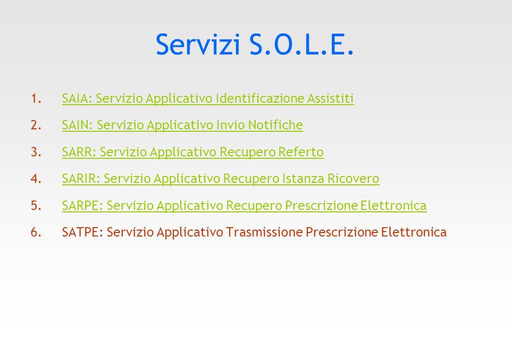 Eseguire i Servizi Sole in IatrosXp I servizi Sole sono integrati nella cartella IatrosXP in modo da consentire al medico un rapido accesso ai medesimi, come mostrato dalla figura sottostante.