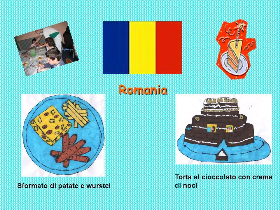 Romania Torta al cioccolato con crema di noci Sformato di patate e wurstel