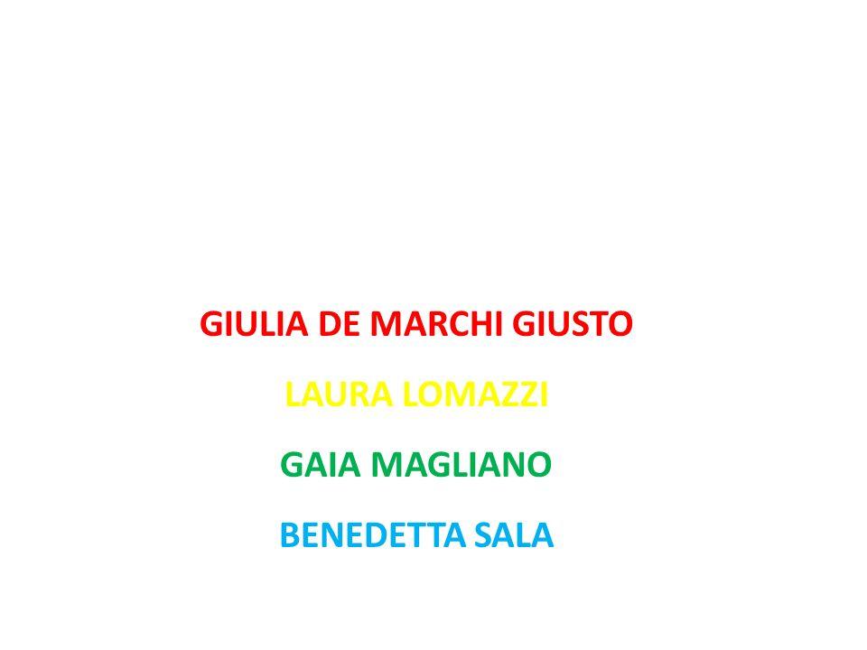 Questo progetto è stato realizzato da: GIULIA DE MARCHI GIUSTO LAURA LOMAZZI GAIA MAGLIANO BENEDETTA SALA