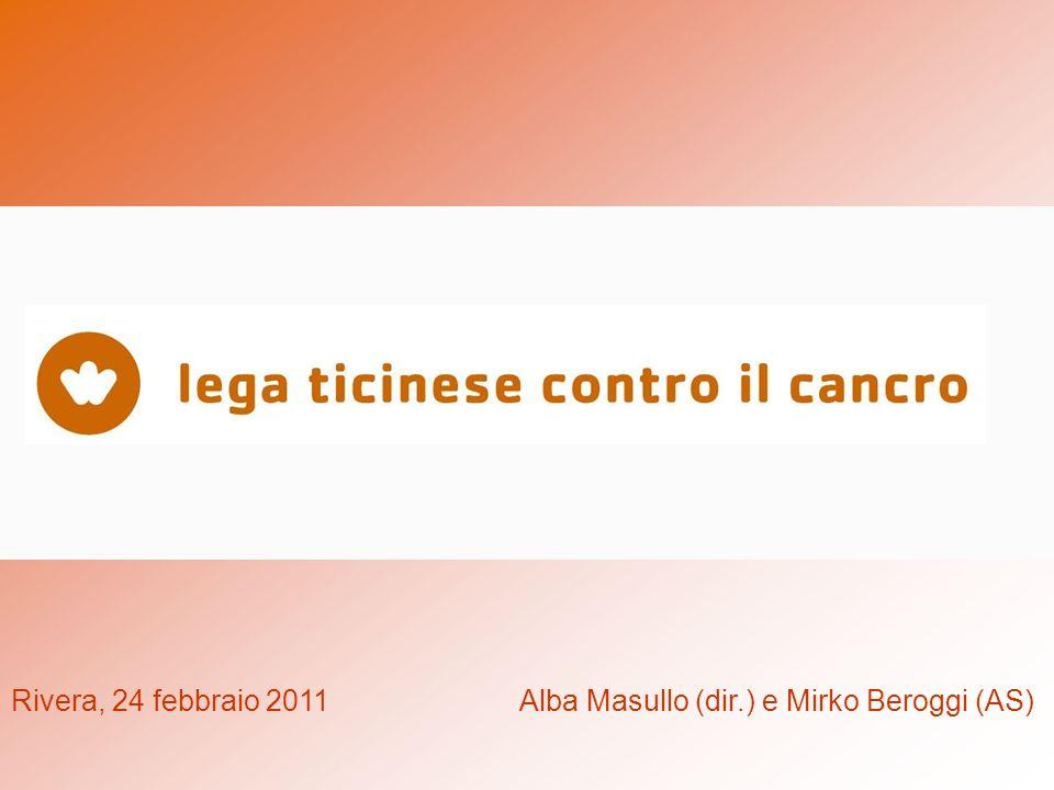 QUALCHE DATA STORICA… 1936 nascita della Lega ticinese contro il cancro/ LTC 1988 creazione del servizio sociale 1989 inizio volontariato 1910 nascita della Lega svizzera contro il cancro/ LSC