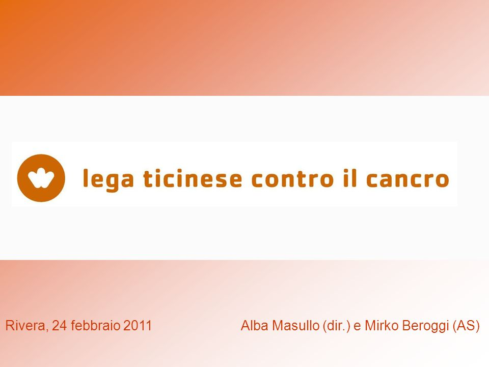 Rivera, 24 febbraio 2011 Alba Masullo (dir.) e Mirko Beroggi (AS)