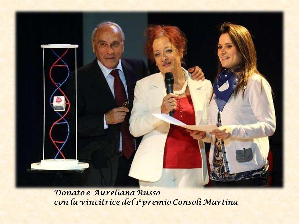Donato e Aureliana Russo con la vincitrice del 1°premio Consoli Martina