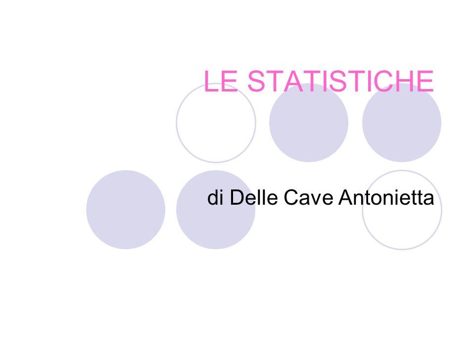 LE STATISTICHE di Delle Cave Antonietta