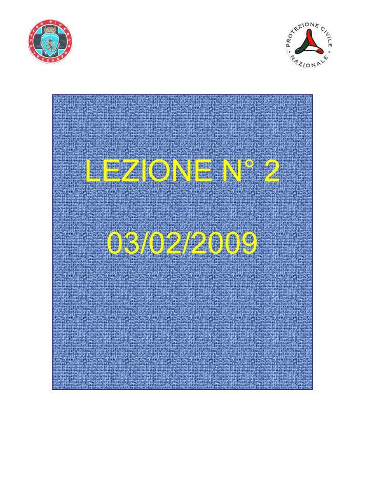 LEZIONE N° 2 03/02/2009