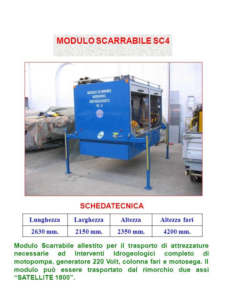 MODULO SCARRABILE SC4 SCHEDATECNICA LunghezzaLarghezzaAltezzaAltezza fari 2630 mm.2150 mm.2350 mm.4200 mm.