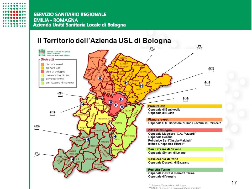 17 Il Territorio dellAzienda USL di Bologna