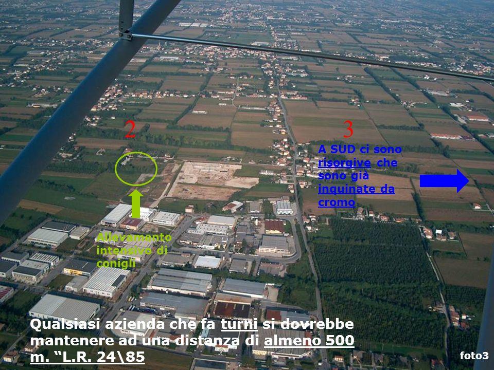 foto3 Allevamento intensivo di conigli Qualsiasi azienda che fa turni si dovrebbe mantenere ad una distanza di almeno 500 m. L.R. 24\85 A SUD ci sono
