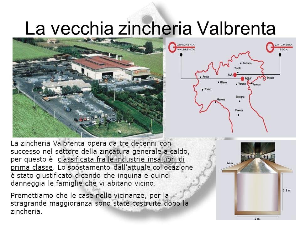 Cartina vettoriale Rosà Sud Cantiere della nuova zincheria Eventuale migliore sito Sito attuale della zincheria Inizio del centro di Rosà