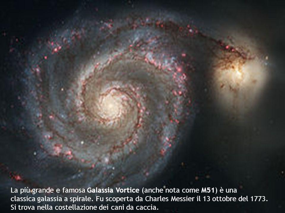 La più grande e famosa Galassia Vortice (anche nota come M51) è una classica galassia a spirale.