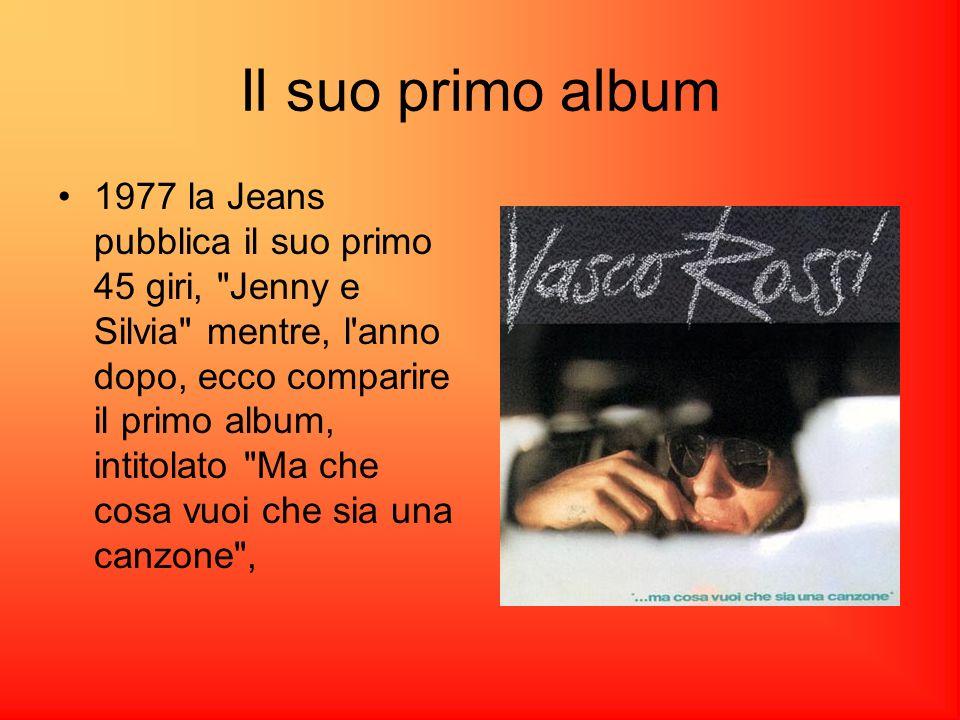 Il suo primo album 1977 la Jeans pubblica il suo primo 45 giri, Jenny e Silvia mentre, l anno dopo, ecco comparire il primo album, intitolato Ma che cosa vuoi che sia una canzone ,
