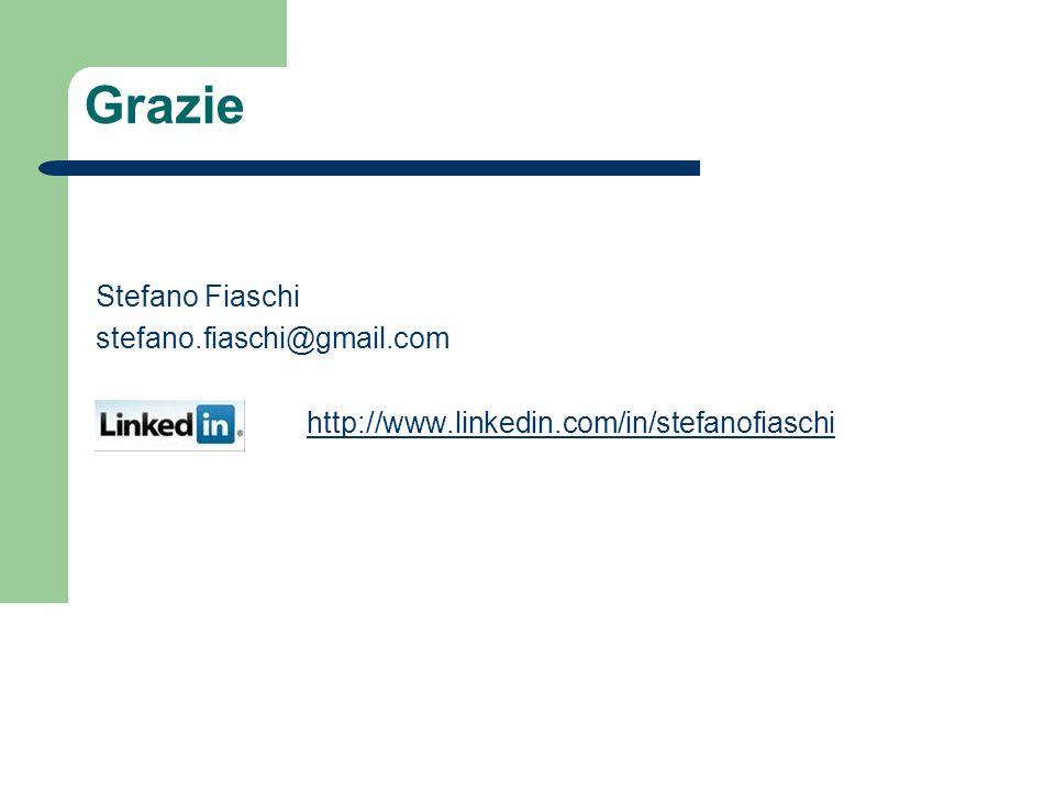 Grazie Stefano Fiaschi stefano.fiaschi@gmail.com http://www.linkedin.com/in/stefanofiaschi