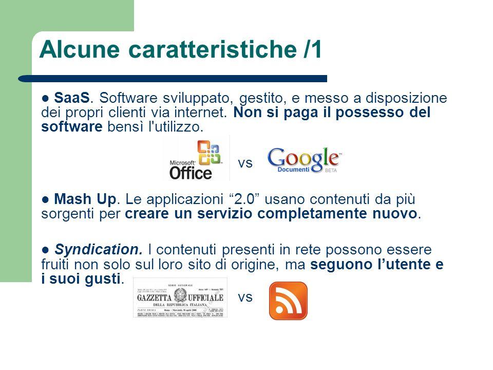 SaaS. Software sviluppato, gestito, e messo a disposizione dei propri clienti via internet. Non si paga il possesso del software bensì l'utilizzo. vs