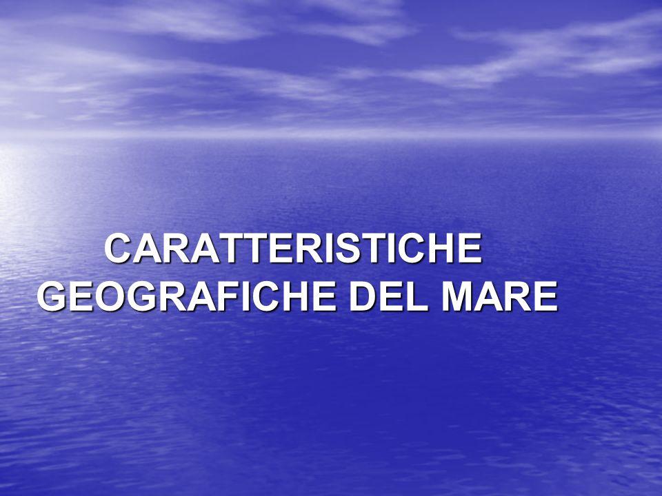 CARATTERISTICHE GEOGRAFICHE DEL MARE CARATTERISTICHE GEOGRAFICHE DEL MARE