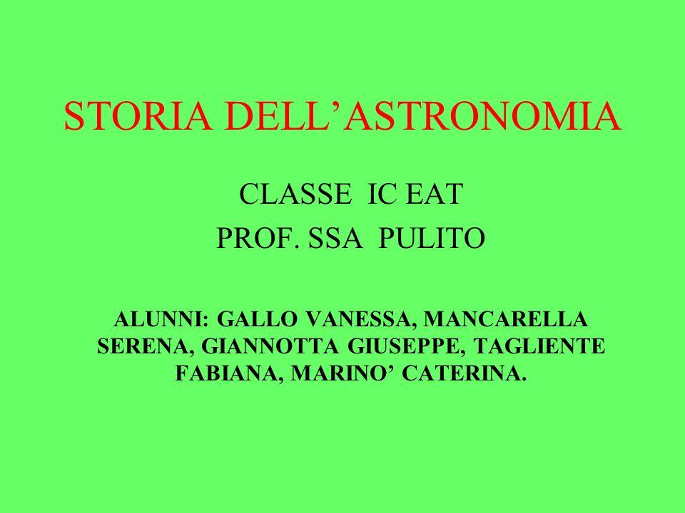 STORIA DELLASTRONOMIA CLASSE IC EAT PROF.