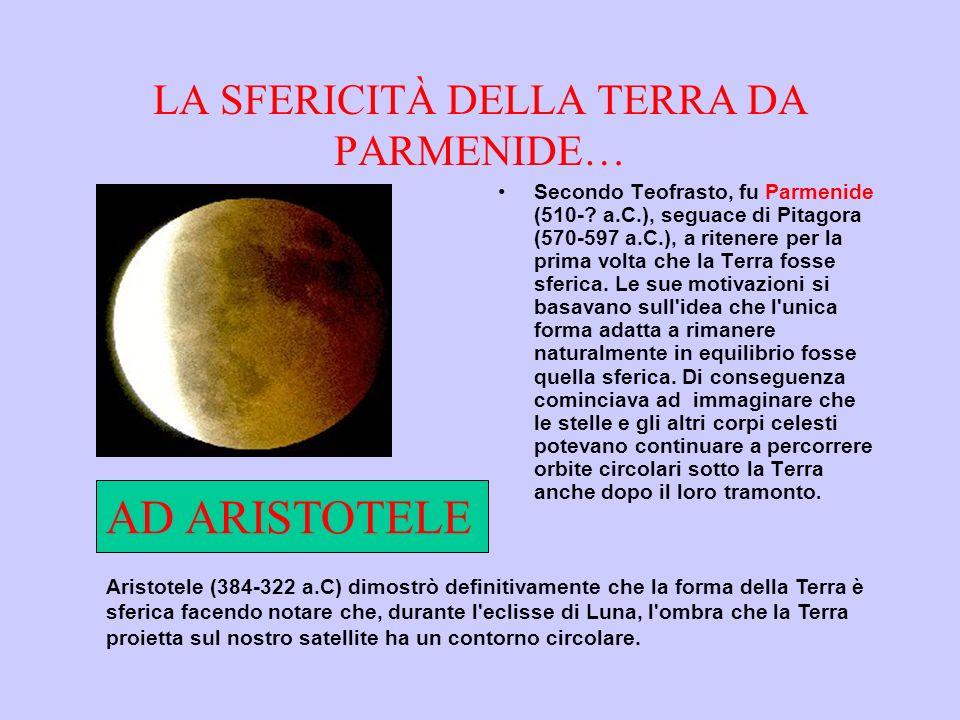 LA SFERICITÀ DELLA TERRA DA PARMENIDE… Secondo Teofrasto, fu Parmenide (510-.