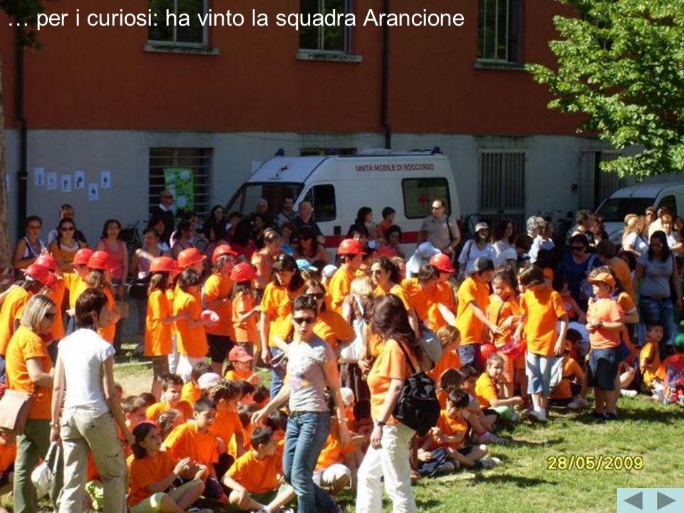 … per i curiosi: ha vinto la squadra Arancione