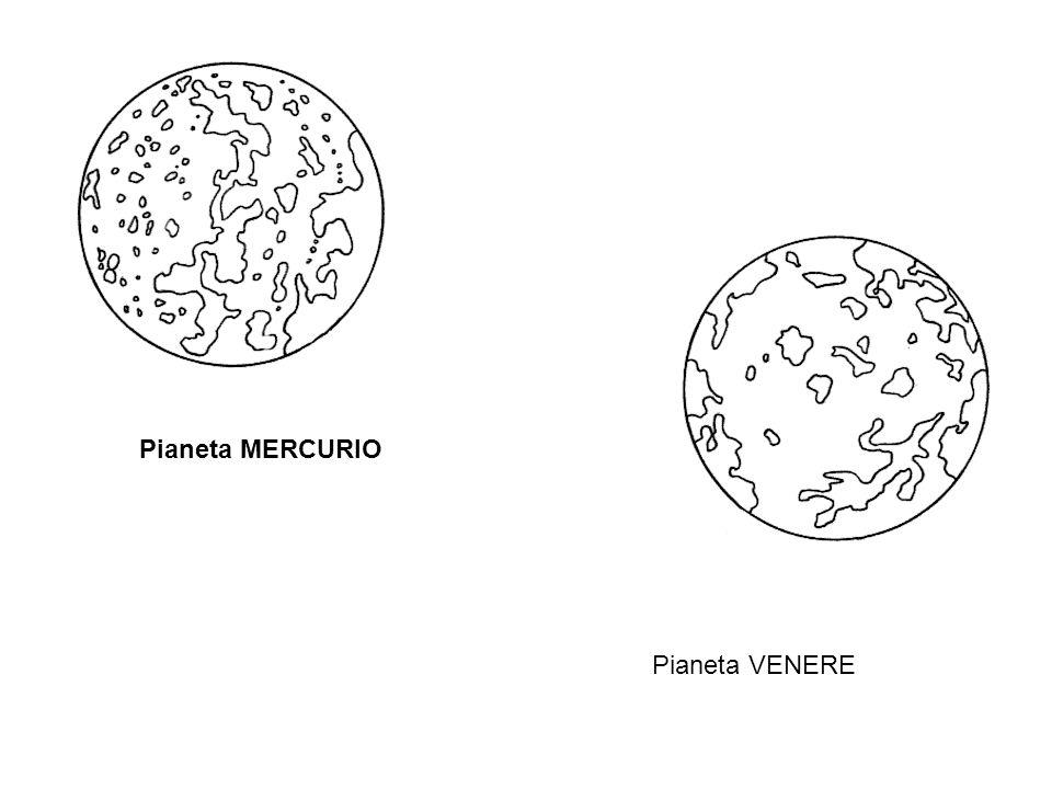 Pianeta MERCURIO Pianeta VENERE