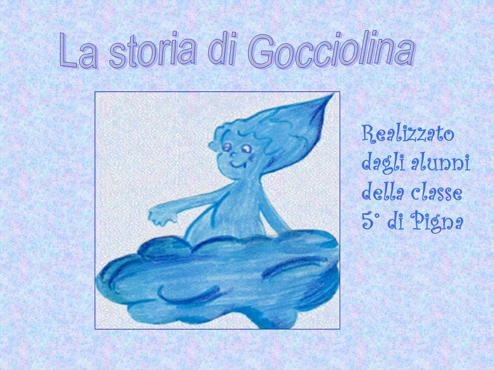 Ciao, io sono Gocciolina, una piccola goccia d acqua che vi racconta di un bellissimo viaggio.