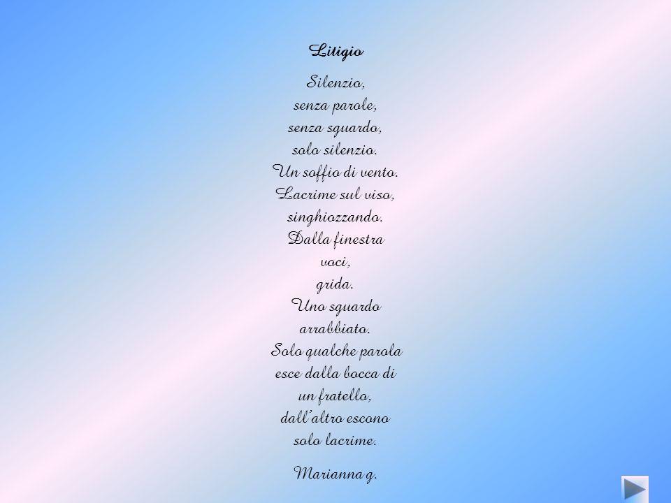 Litigio Silenzio, senza parole, senza sguardo, solo silenzio.