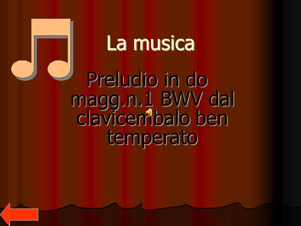 La musica Preludio in do magg.n.1 BWV dal clavicembalo ben temperato