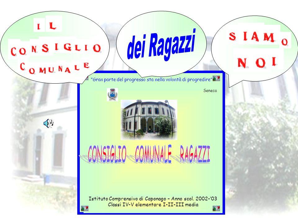 1 Istituto Comprensivo di Caponago – Anno scol. 2002-03 Classi IV-V elementare I-II-III media Gran parte del progresso sta nella volontà di progredire