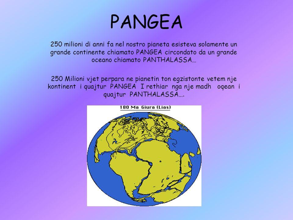 250 milioni di anni fa nel nostro pianeta esisteva solamente un grande continente chiamato PANGEA circondato da un grande oceano chiamato PANTHALASSA…