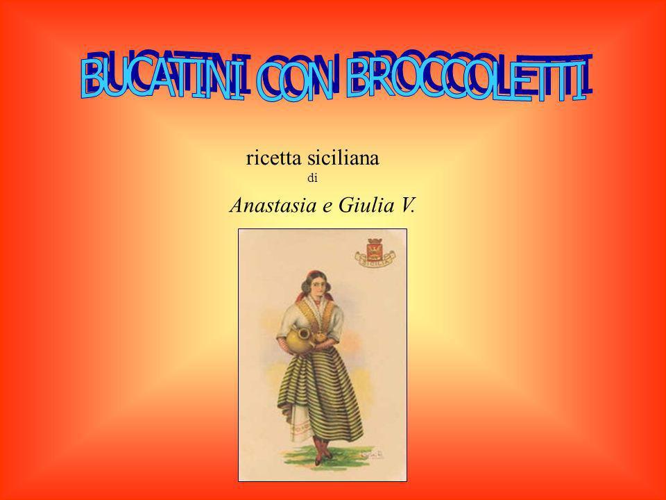 ricetta siciliana di Anastasia e Giulia V.