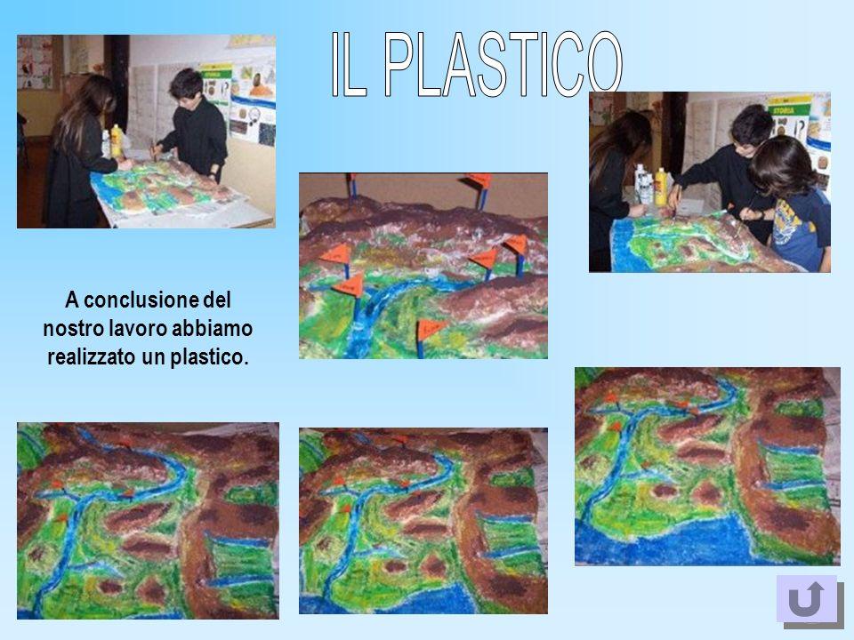 A conclusione del nostro lavoro abbiamo realizzato un plastico.