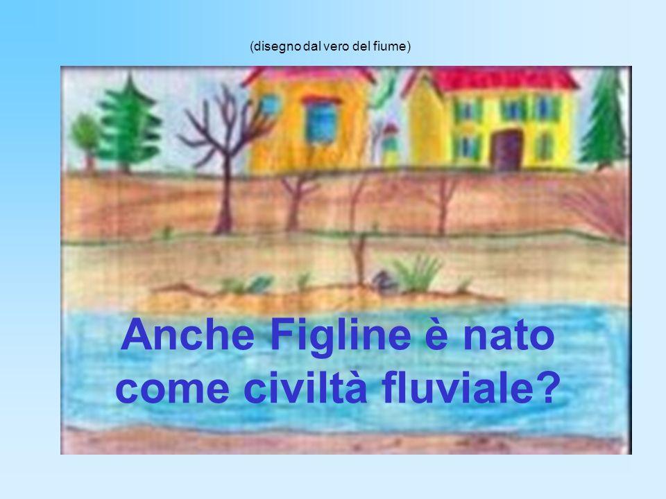 Anche Figline è nato come civiltà fluviale? (disegno dal vero del fiume)