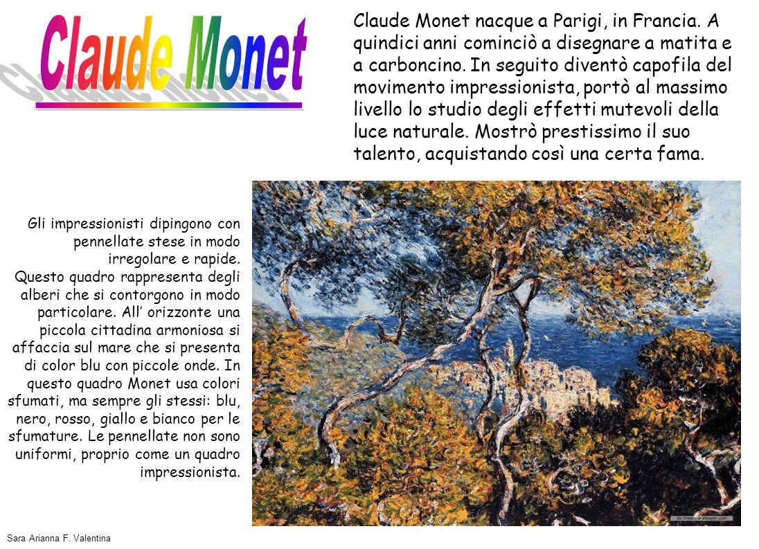 Claude Monet nacque a Parigi, in Francia. A quindici anni cominciò a disegnare a matita e a carboncino. In seguito diventò capofila del movimento impr