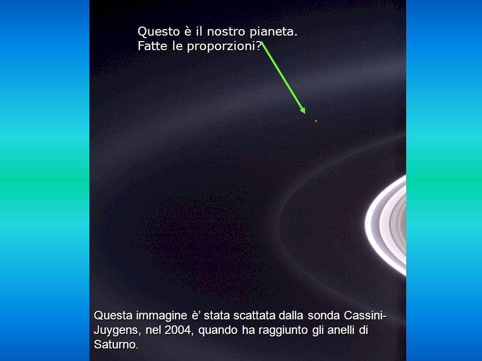 Questa immagine è stata scattata dalla sonda Cassini- Juygens, nel 2004, quando ha raggiunto gli anelli di Saturno.