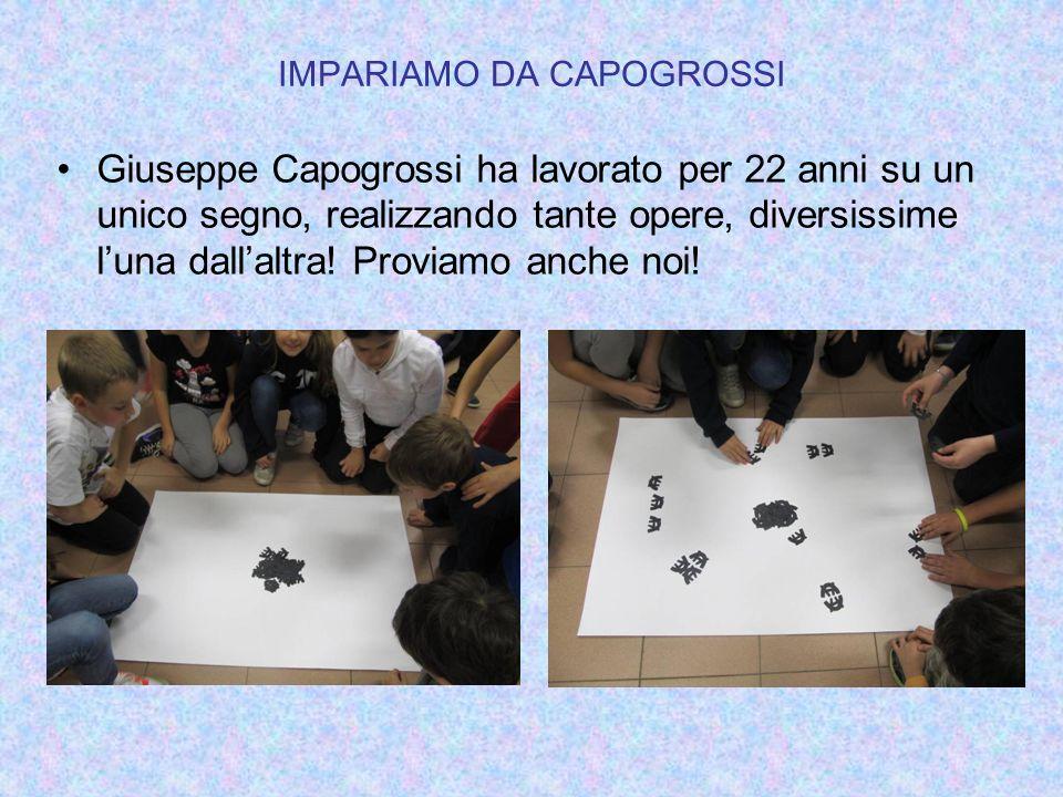 IMPARIAMO DA CAPOGROSSI Giuseppe Capogrossi ha lavorato per 22 anni su un unico segno, realizzando tante opere, diversissime luna dallaltra! Proviamo