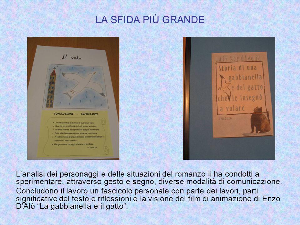 LA SFIDA PIÙ GRANDE Lanalisi dei personaggi e delle situazioni del romanzo li ha condotti a sperimentare, attraverso gesto e segno, diverse modalità d