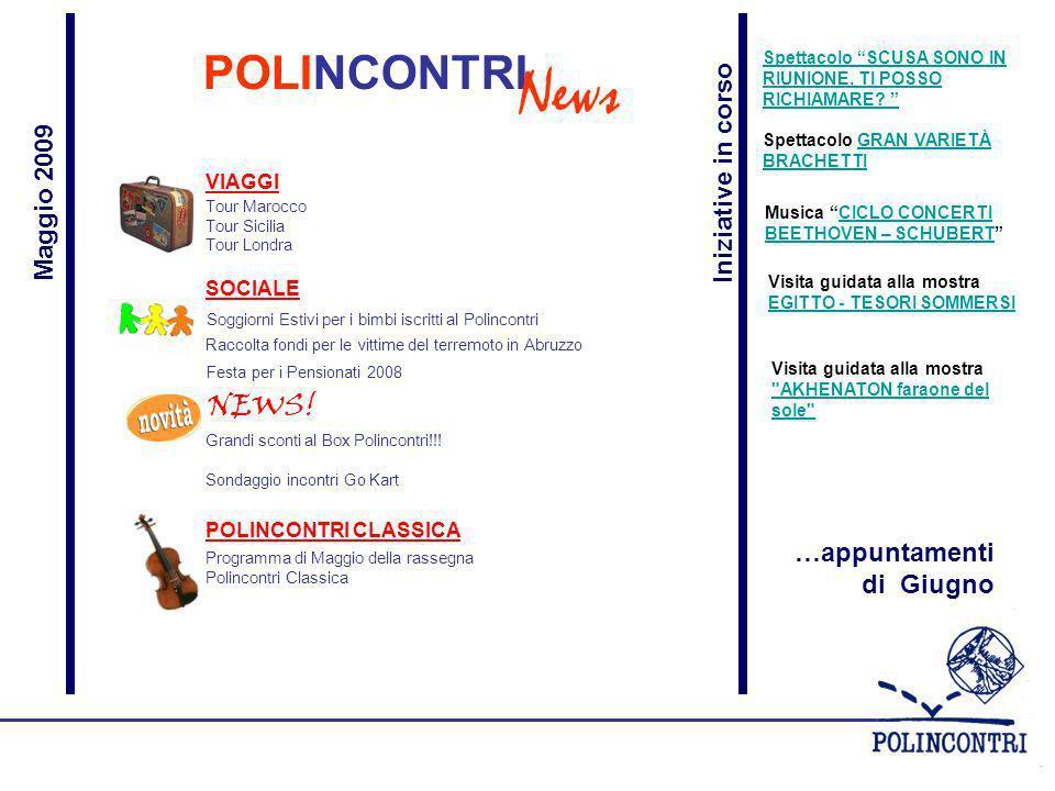 POLINCONTRI News Tour Marocco Tour Sicilia Tour Londra NEWS.